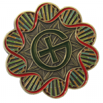 DNA Geocoin - Antique Bronze